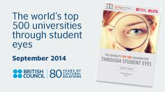 Report: World's top 500 universities through student eyes | British Council