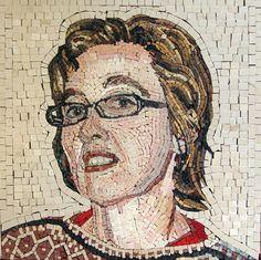 Face Portrait Marble Mosaic