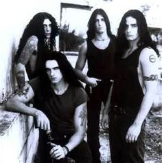 type o negative. I had this poster on my bedroom door when I was in high school