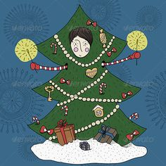 Buy Boy in a Christmas Tree Costume by zhukalyona on GraphicRiver. Hand drawn seamless pattern with boy in a Christmas Tree Costume Christmas Tree Costume, New Years Tree, Christmas Cards, Xmas, Snowflake Background, Halloween Vector, Snowflakes, Snowflake Snowflake, Christmas Design
