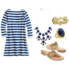 Love navy and gold
