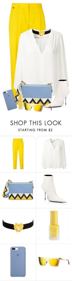 """""""Untitled #2027"""" by ebramos ❤ liked on Polyvore featuring Paul Smith, Erin Fetherston, Prada, Balenciaga and Kenneth Jay Lane"""
