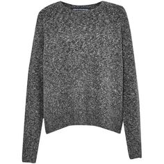 French Connection Rsvp Now Knits Side Zip Jumper (410 BRL) ❤ liked on Polyvore featuring tops, sweaters, shirts, jumpers, grey, clearance, crew sweater, grey sweater, gray knit sweater and knit shirt