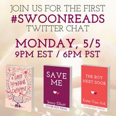 Are you free next Monday? Join us for a #swoonworthy Twitter chat!