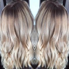Formula: - Balayage the full head with Platinium Plus + 30 Volume - Toned using Redken Shades Eq 9AA+9NB+CLEAR shampooed and conditioned using Unite Shampoo, Conditioner, And styling products.