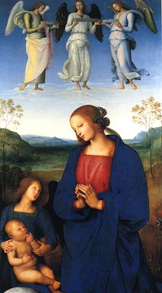 Pietro Perugino - The Virgin and Child with an Angel (1499)