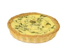 salmon and watercress quiche