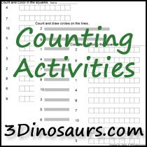 Free Number and Math Activities from 3Dinosaurs.com