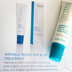 Probiotix Wrinkle Resist Eye & Lip Treatment is perfect for those who'd like to get rid of crows feet, or feathered wrinkles around the mouth!