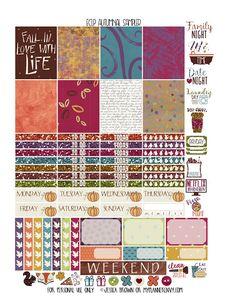 Autumnal Sampler - Free Planner Printable