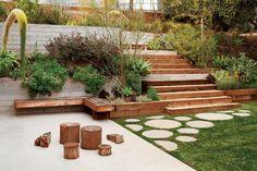 Garden design sloped backyard brilliant sloped backyard landscaping ideas l