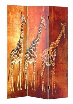 Haku Möbel 30931 Paravent Bois Massif Sapin/Toile Multicolore 3 x 120 x 180 cm: Amazon.fr: Cuisine & Maison