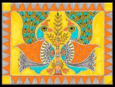 madhubani peacock - Google Search