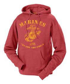 Another great find on #zulily! Red 'Marines The Few The Proud' Retro Hoodie - Men's Regular #zulilyfinds