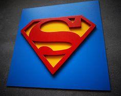 Réduction de 50 % sur shiping, super-héros Superman, Wall art, art mural chambre