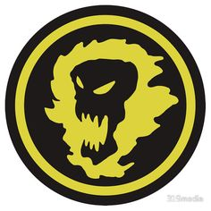 Screaming Evils Emblem - from the 90s cartoon Mutant League #Stickers #Skulls #90scartoons