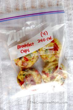 Skinny Breakfast Cups {healthy breakfast recipe}