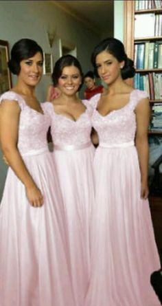 Beautiful baby pink chiffon bridesmaid dress for sale   Belfast   Gumtree