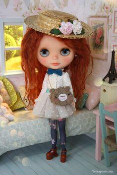 Nerea Pozo Art: ♥ Custom OOAK Blythe doll MOMO ♥