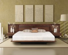 Moduluxe Beds - configured for mattress only - may be ordered in multiple headboard designs with either under-bed storage or with a deeply set plinth base for a dramatic floating motif. All beds are available with attachable nightstands with either a flat shelf or single drawer storage. The Moduluxe Bedroom is crafted in solid American black walnut hardwood*, maple or cherry and Made to Order in fifteen finishes with a variety of knob or pull options. The finish is GREENGUARD Certified for…