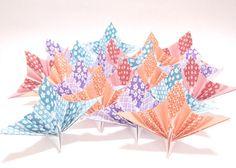 Origami Kimono Paper Peacock 20 Origami Paper by KaoriCraft
