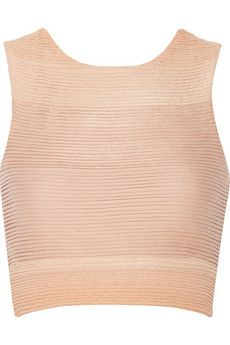 Jonathan Simkhai Major cropped dégradé cotton-blend jersey top   NET-A-PORTER