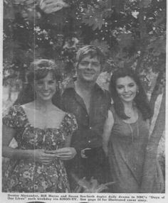Denise Alexander, Bill Hayes, and Susan Seaforth, Days of Our Lives