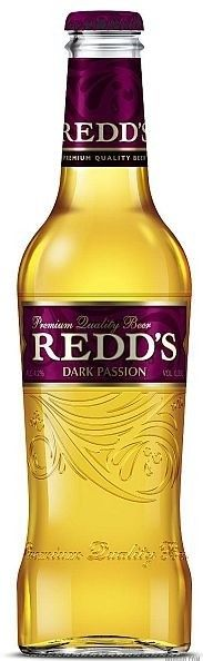 Cerveja Redd's Dark Passion, estilo Fruit Beer, produzida por SABMiller RUS, Rússia. 4.5% ABV de álcool.