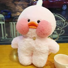 Cafe-Mimi Yellow Duck Plush Toy With Pink Cheek Stuffed Duck Toys Pet Ducks, Baby Ducks, Mochi, Pink Cafe, Duck Toy, Pink Cheeks, Plush Animals, Plush Dolls, Pet Toys