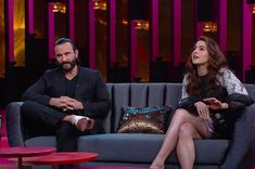 """When Kareena's trepidations about ageing came to the fore. 16 Hilarious Moments From Saif And Sara Ali Khan's Super Candid Episode Of """"Koffee With Karan"""" Perfect Word, Perfect Man, Koffee With Karan, Most Beautiful Words, Surreal Photos, Sara Ali Khan, French Films, Man Alive, Big Bang Theory"""