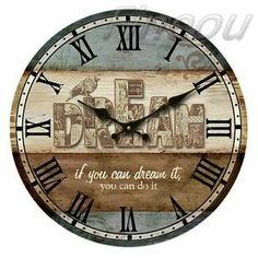 Europe Vintage Style Wooden Wall Clock Home Room Decoration Time Gift New Hot