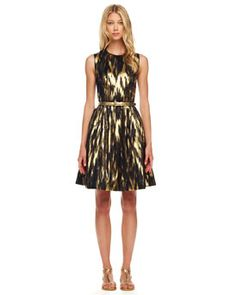 B20BY Michael Kors Ikat-Print A-Line Dress LOVE ♥ LOVE ♥ LOVE ♥