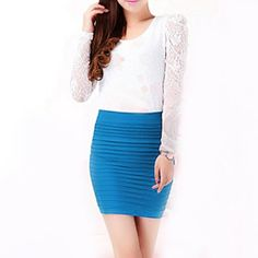HDE Womens Candy Colored Tight Bodycon Tube Skirts - Various Solid Colors $7.95