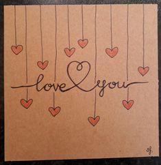 Postcard, Love you. ❤✏