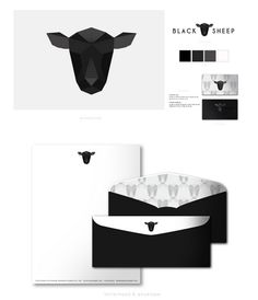 Black Sheep Restaurant Branding - faded logo with the one in the middle coloured