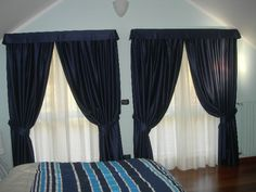 Ns. realizzazione tende per camera da letto