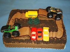 Pin Monster Truck 4th Birthday Party Spaceships And Laser Beams Cake ...