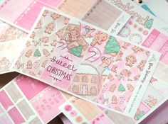 Planner Stickers Kit 6 Sheets  Sweet Christmas by VivaStationery