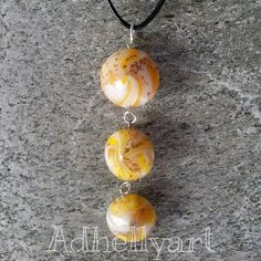 Necklace - Beads - Polymer clay - Fimo