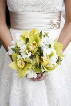 #Green #orchid #bouquet