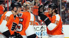 Steve Mason let the NHL know that he's back by fighting off a torrent of shots from the New York Rangers. Milan Lucic, Connor Mcdavid, Flyers Hockey, Hockey Season, Wayne Gretzky, Anaheim Ducks, Edmonton Oilers, Vancouver Canucks, Philadelphia Flyers