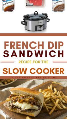 Crockpot Meals, Slow Cooker Recipes, Crockpot Recipes, Beef Pot Roast, Meat Sandwich, French Dip, Crock Pots, Beef Tenderloin, Most Popular Recipes