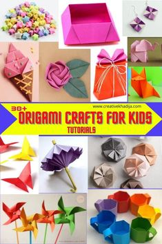 Easy Origami for Kids Arts and Crafts Projects Origami Fish Easy, Easy Origami For Kids, How To Make Origami, Origami Art, Arts And Crafts Projects, Crafts To Make, Fun Crafts, Crafts For Kids, Paper Crafts
