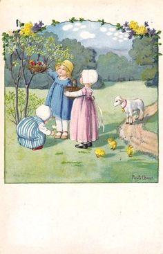 Pauli Ebner (1873-1949) — Old Easter Post Cards, 1930 (449x700)