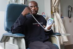 Velcade Chemo Treatment: Checking temperature by tyfn, via Flickr | Canon XSi, 18-55mm f/3.5-5.6 IS, ISO 400, 18mm, f/4.5, 1/15