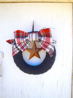 4th of July Wreath Forever Plaid Wreath by thechicadeeshop on Etsy