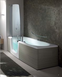 Having shower-tub combo also allows you to indulge in a refreshing occasional bubble bath. We promise our brilliant bathtub shower combo ideas won't fail to Walk In Tub Shower, Bathtub Shower Combo, Bathroom Tub Shower, Laundry In Bathroom, Small Bathroom, Laundry Rooms, Bath Tub, Yellow Bathrooms, Bathroom Renovations