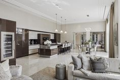 EXTREME High Gloss Neutral Luxury Kitchen In Iconic Residence