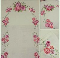 Name: Views: 2251 B … / picgram. Cross Stitch Rose, Diy And Crafts, Floral Prints, Embroidery, Retro, Flowers, Fabric, Pattern, Color