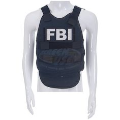 Criminal Minds Suspect Behavior (TV) Mick's FBI ID Badge Bulletproof... ($349) ❤ liked on Polyvore featuring outerwear, vests and vest waistcoat